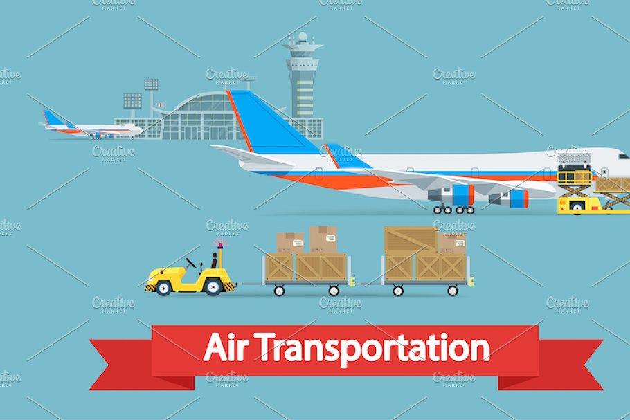 Air cargo transportation concept