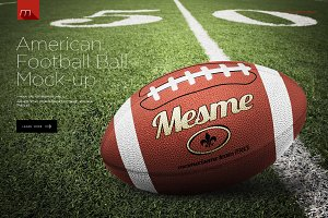 American Football Ball Mock-up