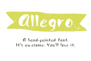 Hand Painted font- Allegro