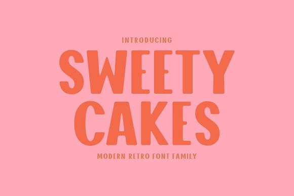 Sweety Cakes Font Family in Display Fonts - product preview 9