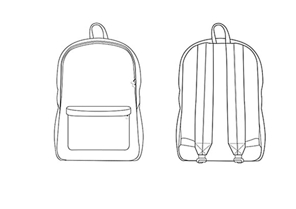 Backpack Fashion Flat Template ~ Templates ~ Creative Market