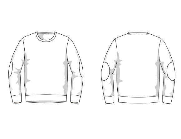 Men\'s Sweater Fashion Flat Template ~ Templates ~ Creative Market