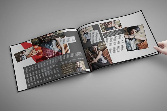fashion look book template 10x8in templates creative market