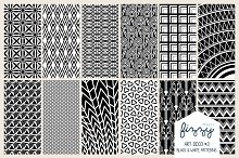 12 x EPS JPG Art Deco Black Patterns