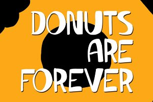 Donuts Are Forever - Font
