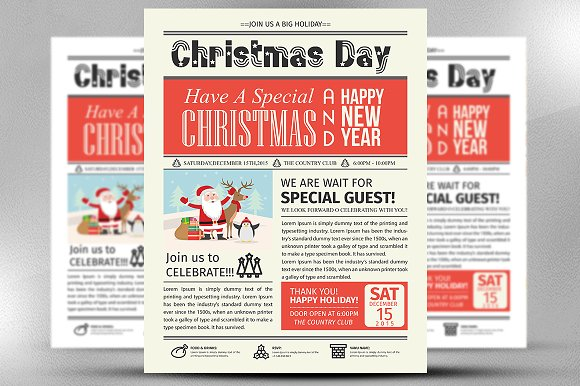 Christmas Party Invite Flyer