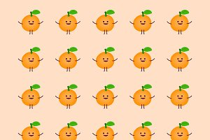 Orange cartoon pattern
