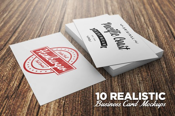 10 Realistic Business Card Mockups Product Creative Market