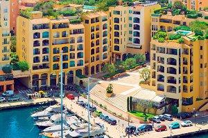 Luxury yachts in harbour of Monaco,
