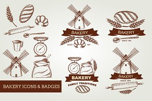 Bakery icons & badges