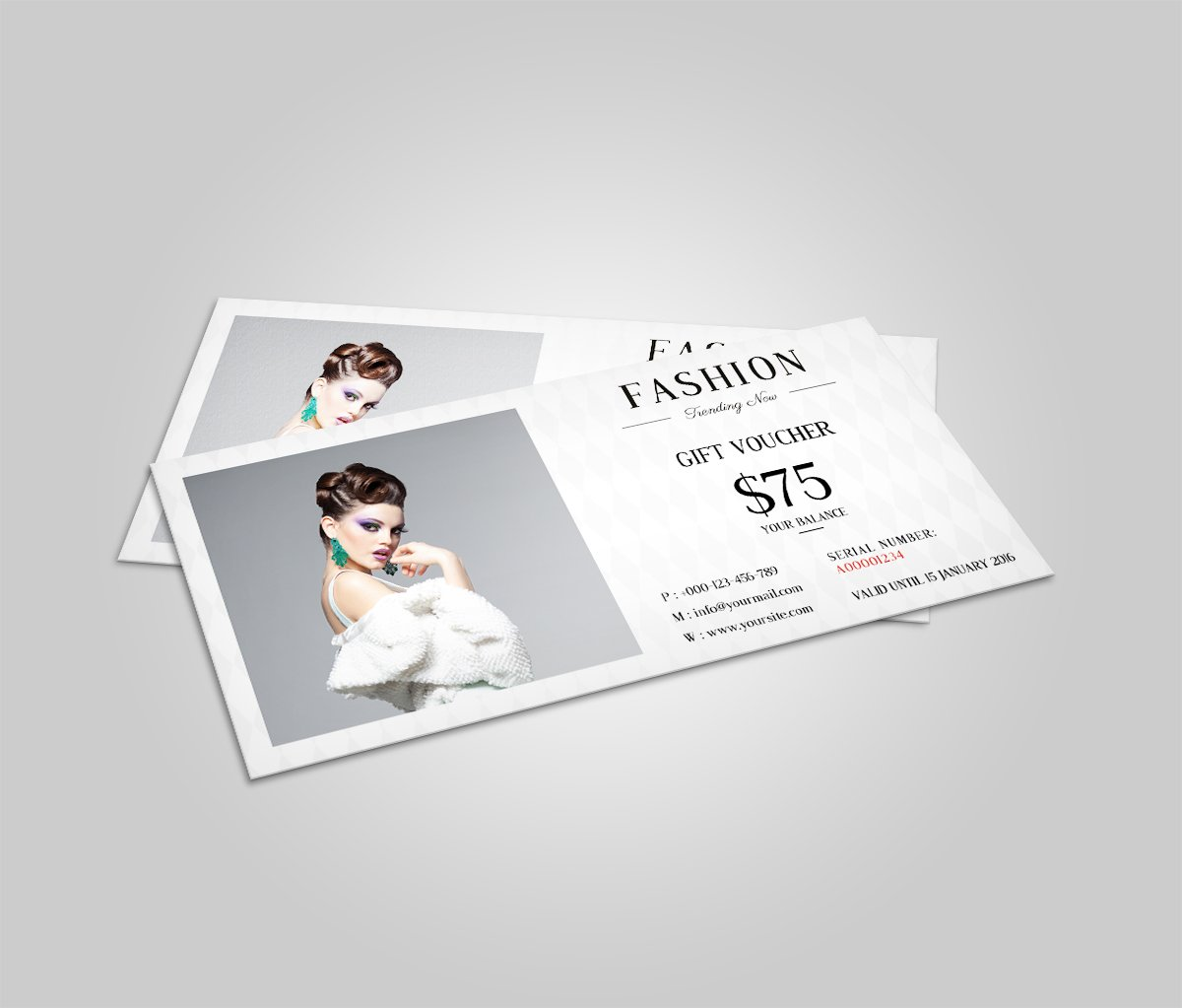 Fashion Gift Voucher Template ~ Card Templates ~ Creative Market