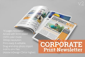 Corporate Print Newsletter