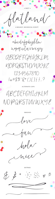 Flatland Font Script Fonts Creative Market