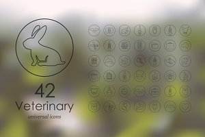 42 veterinary icons