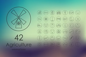 42 agriculture icons