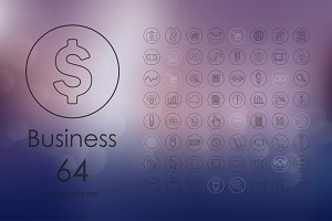 64 business icons