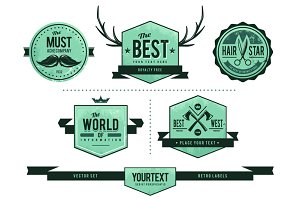 Retro Badges Vector Set