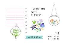 Terrariums+Flowers romantic set