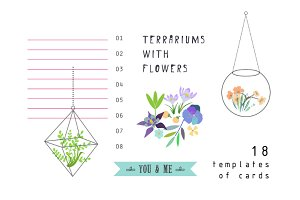 Terrariums+Flowers romantic set