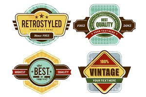 Retro Badges/Insignias Set
