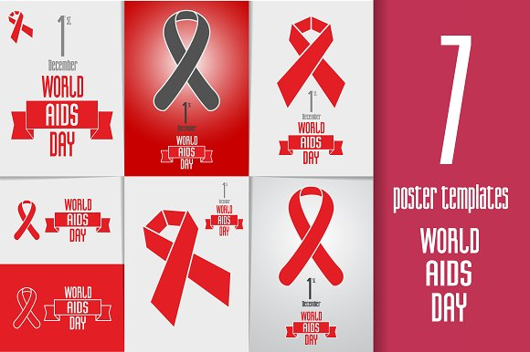 World AIDS day poster templates ~ Brochure Templates ...