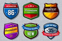 Retro Badges | Emblems Set