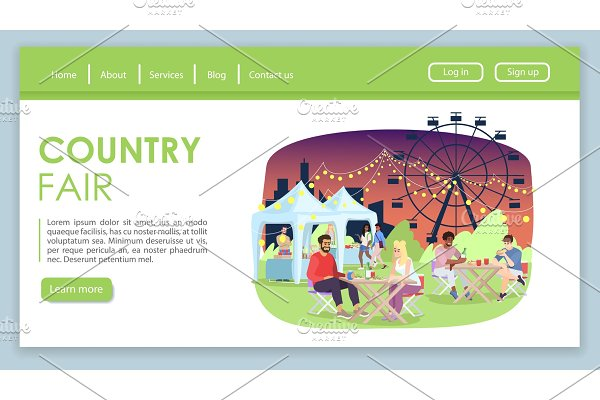 Country fair landing page
