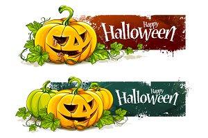 Grunge Halloween Banners