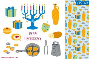Happy Hanukkah: Vector Art