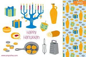 Happy Hanukkah: Clip Art
