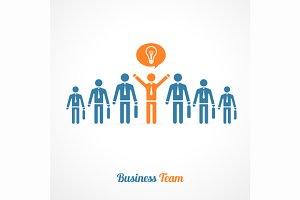 Human Symbol Teamwork. Idea Concept.