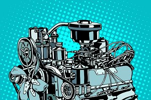 Retro engine motor
