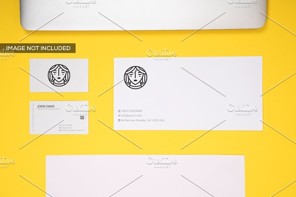 Branding Mockup in Yellow Pack 5