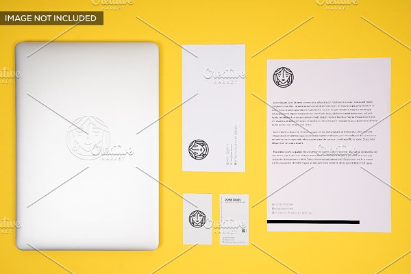 Branding Mockup in Yellow Pack 6