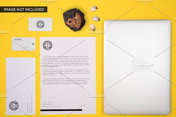 Branding Mockup in Yellow Pack 4