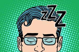 Retro Emoji sleeping male face