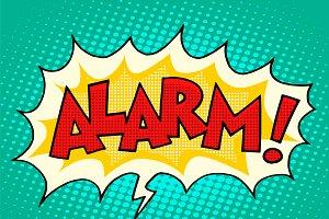 Alarm comic text bubble