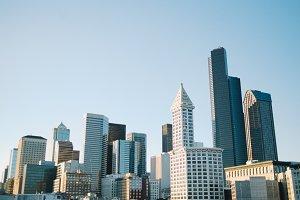 Downtown Seattle Skyline Cityscape