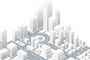 Big isometric center downtown