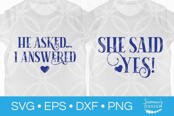 Engagement Svg Set Fiance Wedding Pre Designed Photoshop Graphics Creative Market