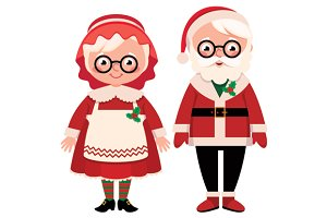 Mister and missus Santa Claus