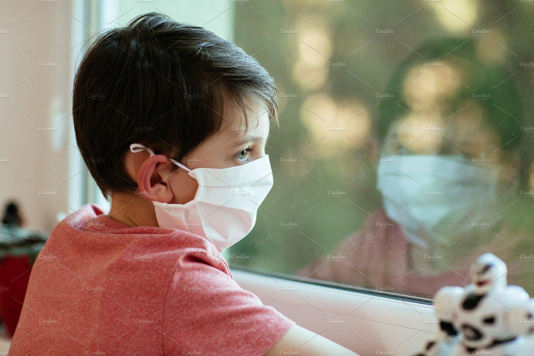 Sad children wearing protective mask | High-Quality Education Stock Photos  ~ Creative Market