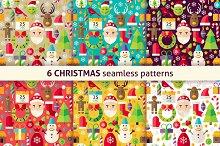 Christmas Flat Seamless Patterns