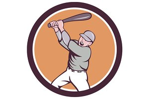 American Baseball Player Batting Hom
