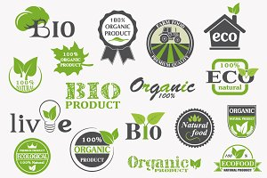 Natural organic product labels