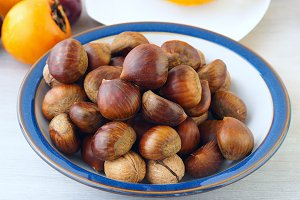 Chestnuts in a plate