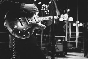 Rock and Roll - Guitarist B&W