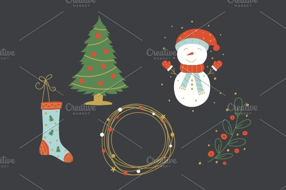 Christmas Collection EPS & PNG in Illustrations - product preview 2