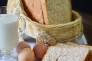 Wheat Bread and Milk