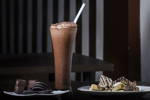 cakes and chocolate drinks